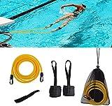 KIKILIVE schwimmgurt für Pool schwimmtrainer Pool,Schwimmwiderstand Trainingsgerät für Fußschlaufe 2M Schwimmtrainingsleine, Schwimmknöchelriemen stationär,Swim Bungee Cords