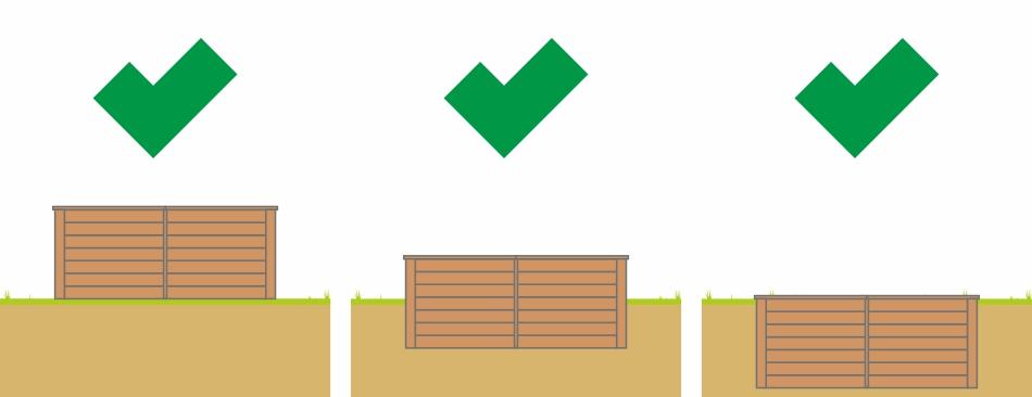 Holzpool Aufbaumöglichkeiten