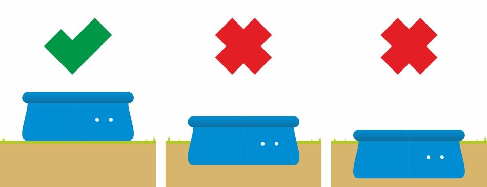 Qick Up Pool Aufbaumöglichkeiten