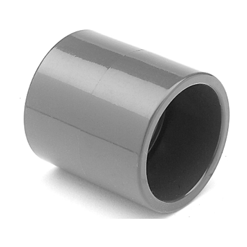 PVC Doppelmuffe 50 mm für Pool Verrohrung